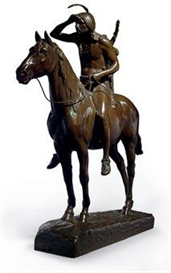 Artwork by Cyrus E. Dallin, 'Scout', Made of bronze with brown patina