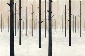 Artwork by Charles Avery, The Eternal Forest from the Ghost of Scirribin, Made of each emulsion paint on panel