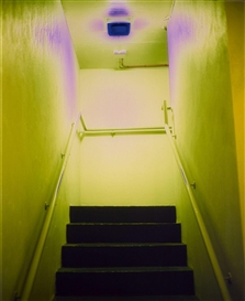 Artwork by Catherine Yass, STAIRS, Made of Work in 2 parts: 2 Cibachrome prints, each Diasec mounted