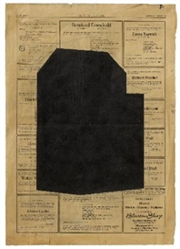 Artwork by Hubert Kiecol, UNTITLED 1983, Made of Ink on newspaper