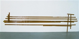Artwork by Matias Faldbakken, Brown Abstract #11, Made of Brown adhesive tape