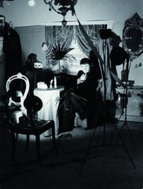 "Artwork by Werner Rohde, ""Selbstportrait 'Der Fotograf'""., Made of Later gelatin silver print. Agfa"