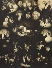 "Artwork by Clarence Sinclair Bull, ""Grand Hotel"" Premiere at Chinese Theatre, circa 1932, Made of Gelatin silver print."