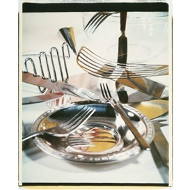 Artwork by Jan Groover, FOUR WORKS: STILL LIFE STUDIES, Made of Polaroid Polacolor prints