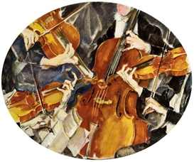 Artwork by Max Oppenheimer, Kolisch-Quartett, Made of Oil on canvas