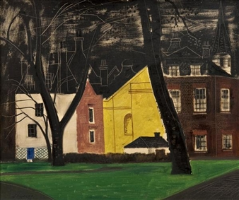 Street in London (Berkeley Square) By Federico Lloveras Herrera ,1956