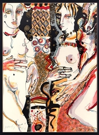 Artwork by Juan Barberá, Mujeres, Made of Serigraph