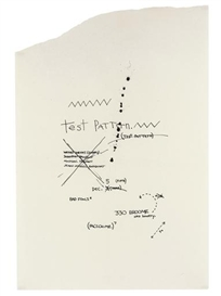 Artwork by Jean Michel Basquiat, Test Pattern, Made of ink on paper