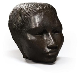 Artwork by Henri Etienne-Martin, Tête d'Alma, Made of BRONZE WITH BROWN PATINA.