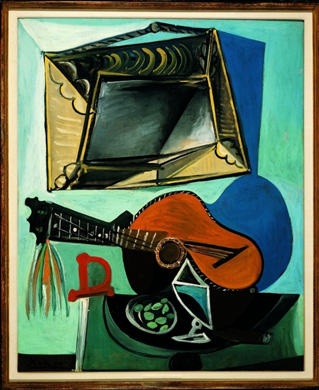 Pablo Picasso Guitar Collage