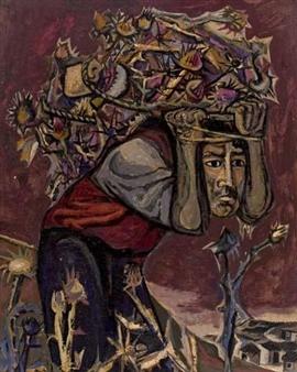 Ortega José   The Flower Carrier (Circa 1958)   MutualArt