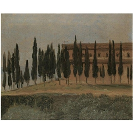 Artwork by Carl Gustav Carus, KLOSTER MONTE OLIVETO BEI FLORENZ (THE MONASTERY OF MONTE OLIVETO MAGGIORE, NEAR FLORENCE), Made of oil on paper laid on board