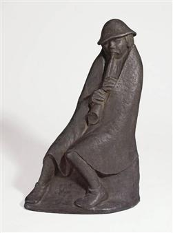 """""""DER FLÖTENBLÄSER"""" By Ernst Barlach ,1936"""