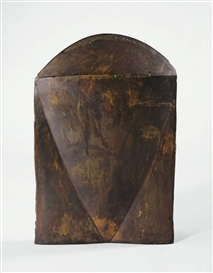 "Artwork by Michael Croissant, ""KOPF"", Made of Bronze, welded"