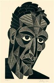 Artwork by Ewald Dülberg, KLEMPERER, Made of Woodcut on Japan paper