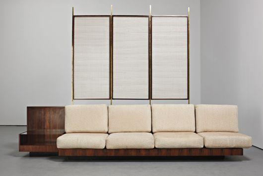 Tenreiro Joaquim Room Divider With Integrated Sofa And Sideboard