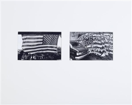 Artwork by Nathan Lyons, After 9/11, Made of gelatin silver prints