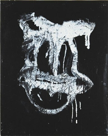 Artwork by Joyce Pensato, Untitled Donald, Made of Enamel and acrylic on paper