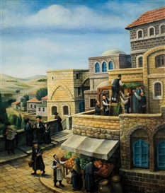 Artwork by Boris Shapiro, Sukkot, Made of oil on canvas
