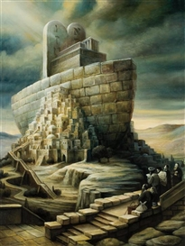 Artwork by Boris Shapiro, Noah's Ark, Made of oil on canvas