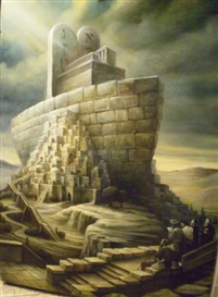 Artwork by Boris Shapiro, Noah`s Ark, Made of oil on canvas