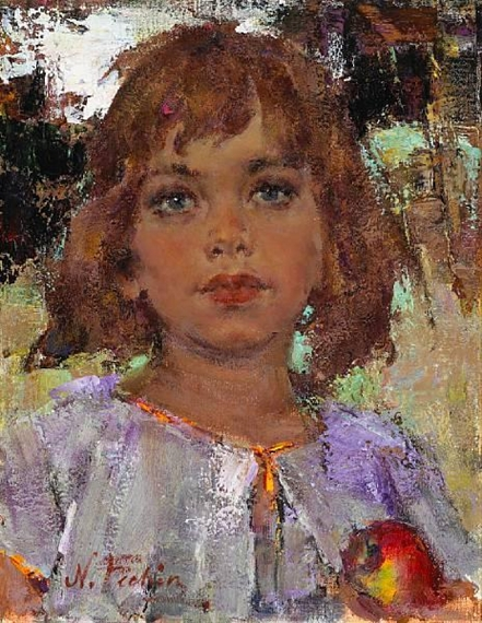 Nicolai fechin portrait of a young girl with an for Nicolai fechin paintings for sale