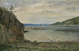 Artwork by Jørgen Haugen Sørensen, Quiet Summer's Day, Made of Oil on canvas