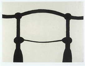 Artwork by Martin Puryear, Shoulders (State 2), Made of Hard-ground and soft-ground etching with chine collé and Gampi? on wove paper
