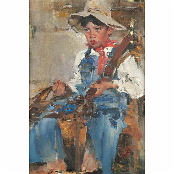 Fechin nicolai antonio triana as a gypsy mutualart for Nicolai fechin paintings for sale