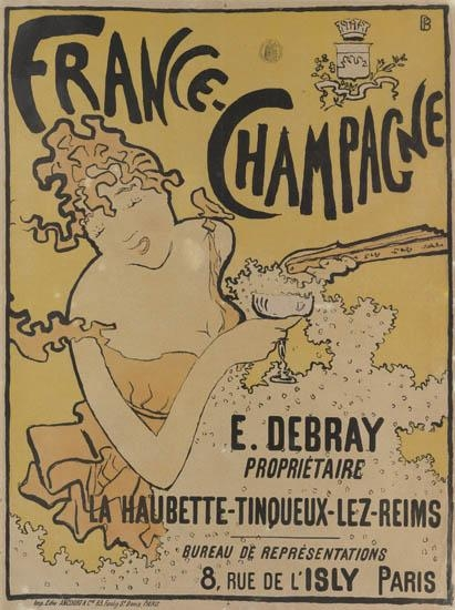 Artwork by Pierre Bonnard, France-Champagne, Made of Color lithograph