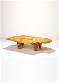Artwork by J. B. Blunk, Unique low table, Made of Buckeye burl
