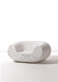"Artwork by Marcel Wanders, ""Crochet"" chair, Made of Crocheted fiber, epoxy resin, gilt metal"