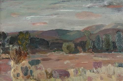 "Artwork by Sir William George Gillies, ""Near Durrisdeer"", Made of oil on canvas"