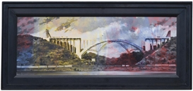 Artwork by Mark Innerst, Dominion over the Earth, Made of oil on masonite in artist's frame