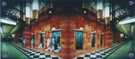 Artwork by Miwa Yanagi, Elevator Girl House B1, Made of Cibachrome print, laid between 20mm thick Plexiglas