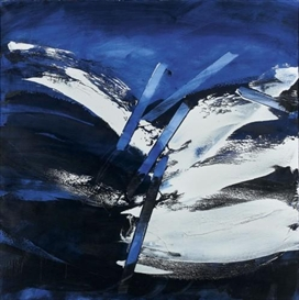 Artwork by Pierre Fichet, COMPOSITION, 1984, Made of Oil on canvas