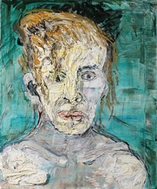 Artwork by Gustav Kluge, Christine Tanja, Made of oil and mixed media on canvas