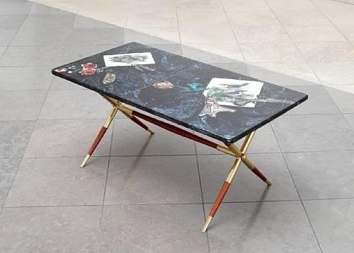 Artwork By Piero Fornasetti, A U0027Cacciau0027 Coffee Table, Made Of Lacquered Wood