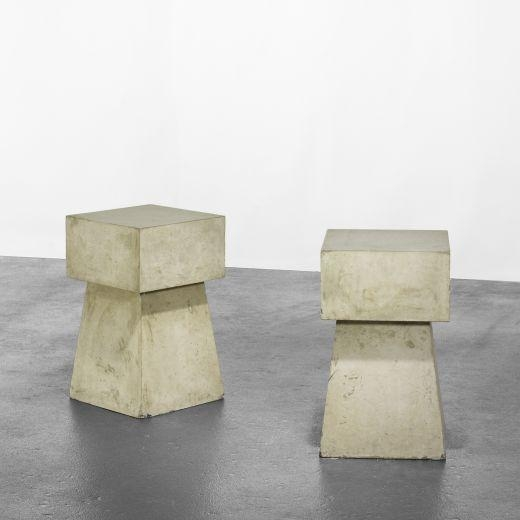 Scott Burton Concrete Tables 1981 Cast Concrete