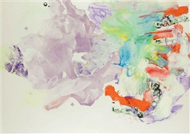 Artwork by Pia Fries, Untitled (NR W2), Made of oil, acrylic, plastic, silkscreen inks on paper