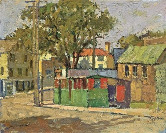 """The Green Shed, Gloucester"" By Frederick J. Mulhaupt"