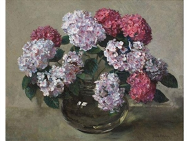 Frans Oerder, Hydrangeas in a Bowl