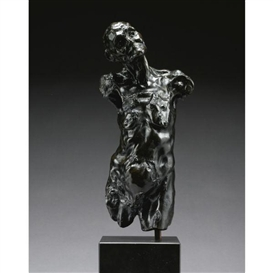 Artwork by Camille Claudel, Torse de Clotho Chauve, Made of Bronze with black patina