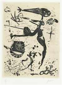 Artwork by André Bicât, Untitled (6), Made of etchings with aquatint