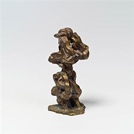 Artwork by Erwin Reiter, Figur mit erhobenen Armen, Made of Bronze