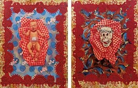 Artwork by Christy Astuy, Birth an Death (diptych), Made of oil on canvas