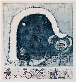 Artwork by Betye Saar, Winter Symbol, Made of Etching and aquatint