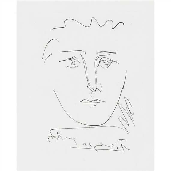 Picasso Pablo   POUR ROBY (FROM L\'AGE DE SOLEIL BY ROBERT J. GODET ...
