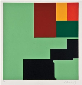 Artwork by Paul Huxley, 4 Works: Untitled, Made of silkscreens printed in colours
