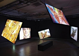 Artwork by Kutluğ Ataman, 5 WORKS: Stefan's Room, Made of Five screen video installation